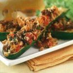 American Baked Stuffed Courgettes Appetizer