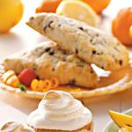 Indian Tangerine Chip Tea Scones Dessert