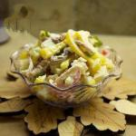 American Vegetable Salad with Whipped Cream Appetizer