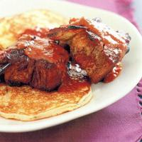 British Barbecued Short Ribs and Potato Pancakes Appetizer
