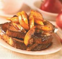 French Cinnamon French Toast with Sauted Apples and Raisins Breakfast