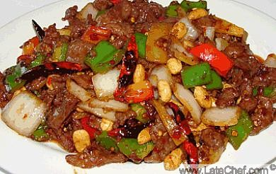 Chinese Kung Pao Beef Appetizer