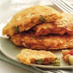 American Pancakes of Peas and Corn Appetizer