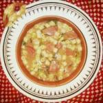 Canadian Broth of Beans with Noodles Calabrese and Cabbage Appetizer