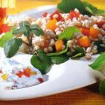 British Salad of Barley with Wild Herbs Appetizer
