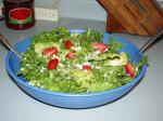 American Pacific Northwest Strawberry Goat Cheese  Pine Nut Salad Dinner