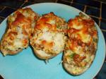 American Sausage Stuffed Baked Potatoes Appetizer