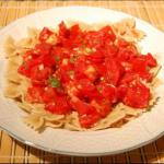 American Herbed Garlic Rigati with Fresh Tomatoes Dinner