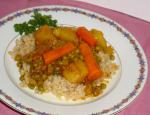 American Pea Curry With Carrots and Potatoes Dinner