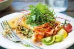 Cheese and Brussels Sprout Quiches With Baby Herb Salad Recipe recipe