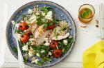 Iranian/Persian Pepper Chicken And Pearl Couscous Salad With Persian Feta Recipe Dinner