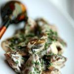 Russian Giblets Chicken with Mushrooms and Sour Cream Appetizer