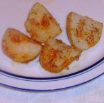 American New Potatoes Roasted with Garlic  Olive Oil Appetizer