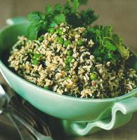 Bulgarian Green Rice with Lime and Cilantro Dinner
