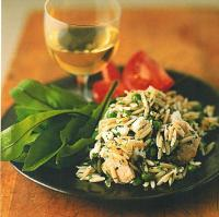 Greek Lemon Orzo with Chicken Dinner
