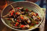 Canadian Churrasco Beef Skewers With Jalapeno and Charred Capsicum Salsa Recipe Appetizer