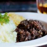 Irish Black Pudding with Two Purees Appetizer