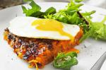 British Bacon And Sweet Potato Rosti With Fried Eggs Recipe Dessert