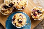 American Blackberry Raspberry And Oat Crumble Muffins Recipe Dessert