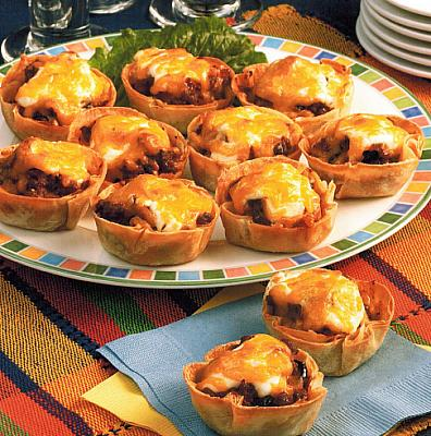 Spanish Mini Taco Quiches Appetizer