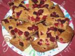 American Raspberry Pecan Blondies Dessert