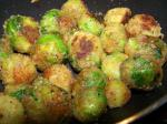American Cheesy Fried Brussels Sprouts Appetizer