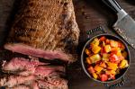 American Balsamicmarinated Grilled Flank Steak with Bell Pepper Relish Recipe Appetizer