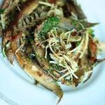 Japanese Anguilla and Enoki Mushrooms Appetizer