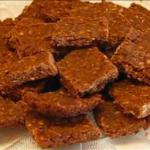 American No-bake Chocolate Oatmeal Cookie Squares Dessert