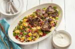 Moroccan Moroccan Lamb Loin Chops With Mango Couscous Recipe Appetizer