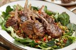 Moroccan Moroccan Spiced Lamb Cutlets With Lentilchickpea Salad Recipe Appetizer