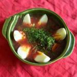 American Beetroot Soup with Sheets Appetizer