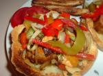 American Sausage Pepper and Onion Hoagies Appetizer