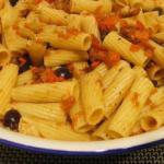American Rigatoni with Tomato Garlic and Pepper Appetizer