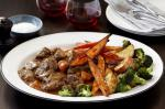 Australian Braised Beef With Roasted Potatoes And Broccoli Recipe BBQ Grill