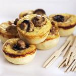 Australian Mini Mushroom Bacon and Cheese Quiches Appetizer