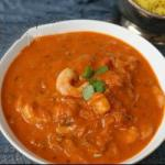 Australian Prawn Curry with Peppers and Coconut Sauce Dinner