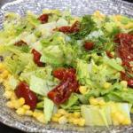 Australian Green Salad with Corn Dill and Dried Tomatoes Appetizer