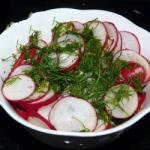 American Radishes with Dill Appetizer