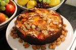 French Almond and Apricot Cake Appetizer
