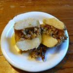 American Baked Apples with Pecan Nuts and Maple Syrup maple Syrup Dessert