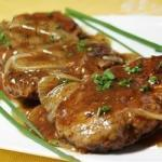 Australian Hamburger Steak with Onions and Gravy Recipe Appetizer