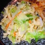 American Easy Cabbage and Noodles Appetizer