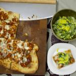 Buffalo Chicken Pizza With Shaved Celery Salad recipe