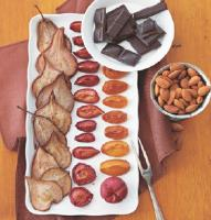 Iranian/Persian Oven-dried Fruit with Chocolate and Toasted Almonds Dessert