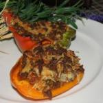 American Red Peppers Stuffed with Minced Meat Appetizer