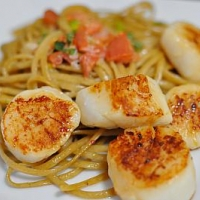 Italian Scallop Linguine Dinner