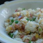 American Fried Rice with Ham and Egg Appetizer