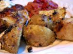 American Herb Mustard Roast Potatoes Appetizer