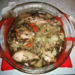 French Chicken with Provencal Herbs and Vegetables Dinner